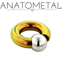 Anatometal Titanium Screw on Ball Ring 00g