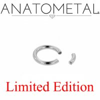"Anatometal Titanium 5/16"" Segment Ring 12 Gauge 12g Limited Edition"
