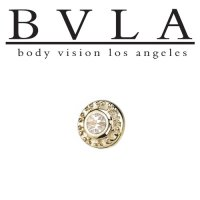 "BVLA 14Kt Gold ""Tiny Nanda"" VS Diamond Threadless End 18g 16g 14g ""Press-fit"""