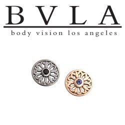 "BVLA 14kt Gold ""Maira"" Threadless End 18g 16g 14g ""Press-fit"""