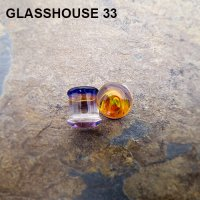 "Glasshouse 33 Angst Double Flare Plugs 7/16"" (Pair)"