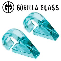 "Gorilla Glass Solid Triangles 0.4oz Ear Weights 9/16"" And Up (Pair)"