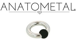 Anatometal Surgical Stainless Steel Rubber Ball Closure Captive Bead Ring 10g 10 Gauge