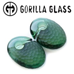 "Gorilla Glass Martele Ovoids 2.6oz Ear Weights 5/8"" And Up (Pair)"