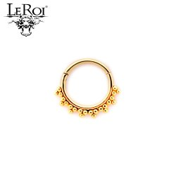 LeRoi 14kt Gold Talia Hinged Ring 16 Gauge 16g