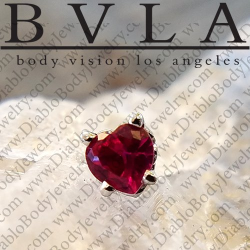 "BVLA 14kt Gold ""Heart"" Scroll Prong Threadless End 18g 16g 14g ""Press-fit"" - Click Image to Close"