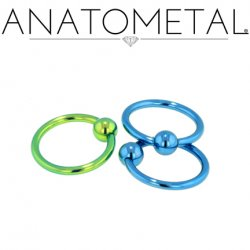 Anatometal Titanium Captive Bead Ball Closure Ring 16 Gauge 16g