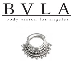 "BVLA 14kt Gold ""Maika"" Septum Clicker Nose Ring 10 Gauge 10g Body Vision Los Angeles"