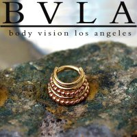"BVLA 14kt Gold Two-Tone ""Kaycee"" Septum Ring 12g 14g 16g Body Vision Los Angeles"