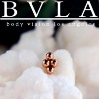BVLA 14kt Gold 4 Bead Cluster Nostril Screw Nail Stud Nose Bone 20g 18g 16g Body Vision Los Angeles