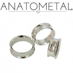 Anatometal Surgical Steel Double Flare Eyelets 8g - 1""