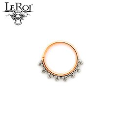 LeRoi 14kt Gold Talia Seam Ring 16 Gauge 16g