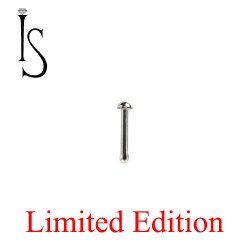 "Industrial Strength Stainless Surgical Steel Nose Bone Stud 1/4"" Length 1/16"" Half-dome 20 Gauge 20g Limited Edition"