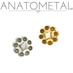 Anatometal 18kt Gold Dazy Threaded End 18g 16g 14g 12g
