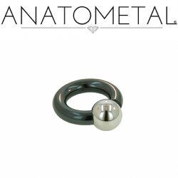 Anatometal Niobium Screw on Ball Ring 10 Gauge 8 Gauge 6 Gauge 10g 8g 6g
