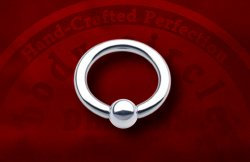 "Body Circle Surgical Stainless Steel Captive Bead Ball Closure Ring 1/2"" Inner Diameter 8 Gauge 8g Sale!"