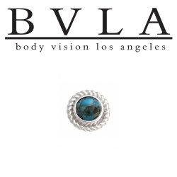 "BVLA 14kt Gold ""Choctaw"" 10.5mm Threaded End Dermal Top 18g 16g 14g 12g Body Vision Los Angeles"