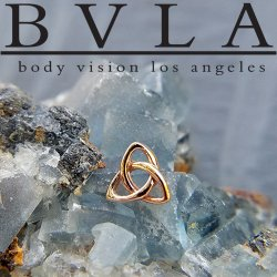 "BVLA 14Kt Gold ""Celtic Knot"" 6mm Threaded End Dermal Top 18g 16g 14g 12g Body Vision Los Angeles"