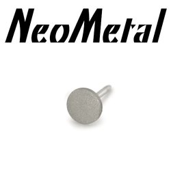 "18 Gauge 18g NeoMetal Threadless Titanium 2.5mm Textured Finish Disk ""Press-fit"""