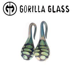 Gorilla Glass Atlantis Drops 1.1oz Ear Weights 6g 4g 2g (Pair)