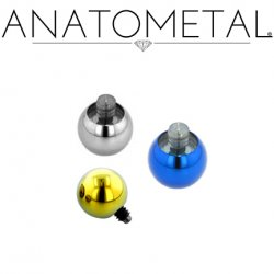 Anatometal Titanium Threaded Replacement Ball 4 Gauge 4g