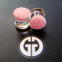 "Gorilla Glass Color Front Martele Plugs 6 Gauge to 1"" (Pair)"