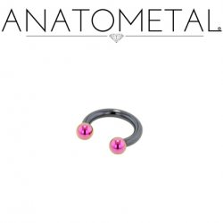 Anatometal Niobium Circular Barbell With Titanium Ball Ends 16 Gauge 16g