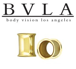 "BVLA 14kt Gold ""Double Flared Eyelet"" Ear Ring 4g Body Vision Los Angeles"