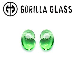 "Gorilla Glass Solid Ovoids 0.5oz Ear Weights 1/2"" And Up (Pair)"