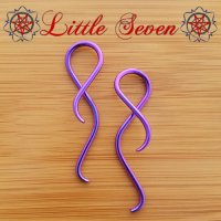 "Little Seven Niobium Small ""Shakti"" Hanging Twists 12 Gauge 12g (Pair)"