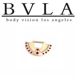 BVLA 14kt Gold Inti Tri Tone Septum Shield 16g Body Vision Los Angeles