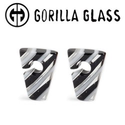 "Gorilla Glass Linear Rhomboids 0.8oz Ear Weights 3/4"" And Up (Pair)"