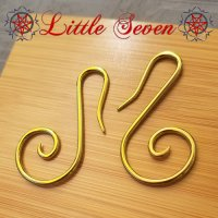 "Little Seven Niobium Small ""Swan"" Spirals 12 Gauge 12g (Pair)"