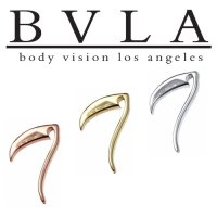 "BVLA 14kt Gold ""Scythe"" Threaded End Dermal Top 18g 16g 14g 12g Body Vision Los Angeles"