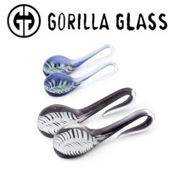 Gorilla Glass Feather Lagrimas Ear Weights 6g 4g 2g (Pair)