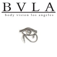 "BVLA 14kt Gold ""Eye Of Horus\"" Threaded End Dermal Top 18g 16g 14g 12g Body Vision Los Angeles"