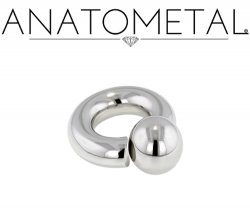 Anatometal Surgical Stainless Steel Screw on Ball Ring 2g 2 Gauge