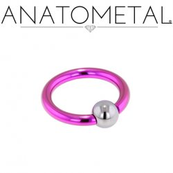 Anatometal Titanium Captive Bead Ball Closure Ring 14 Gauge 14g
