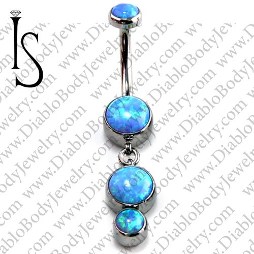 Industrial Strength Surgical Steel Navel Curve Barbell Belly Button