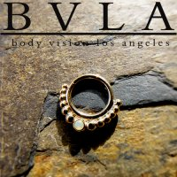 "BVLA 14kt Gold ""Graduating Latchmi w/ Gem\"" Nose Nostril Septum Ring 16 Gauge 16g Body Vision Los Angeles"