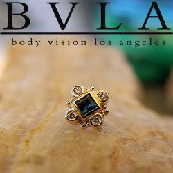 "BVLA 14Kt Gold ""Aspen"" Threadless End 18g 16g 14g ""Press-fit"""