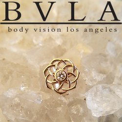 "BVLA 14Kt Gold ""Shandra"" Threadless End 18g 16g 14g ""Press-fit"""