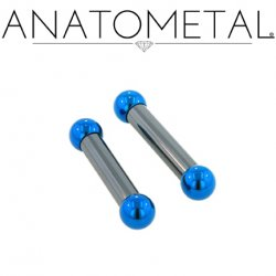 Anatometal Niobium Straight Barbell 4 Gauge 4g