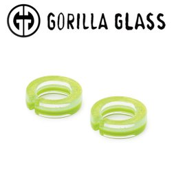 "Gorilla Glass Fused Dichroic Flat Saturns 0.9oz Ear Weights 9/16"" And Up (Pair)"