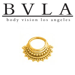 "BVLA 14kt Gold ""Maika"" Septum Clicker Nose Ring 14 Gauge 14g Body Vision Los Angeles"