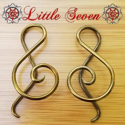 "Little Seven Niobium Small ""Shakti"" Spirals 12 Gauge 12g (Pair)"