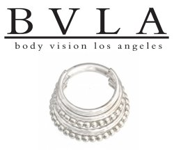 "BVLA 14kt Gold ""Kaycee"" Septum Ring 12g 14g 16g Body Vision Los Angeles"
