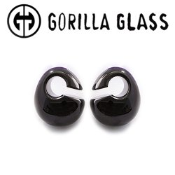 "Gorilla Glass Solid Kettlebells 0.7oz Ear Weights 12.5mm (1/2"") And Up (Pair)"