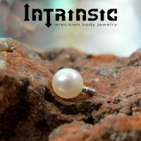 Intrinsic Body Genuine Freshwater Pearl Threaded Bead 3mm 4mm Gem End 18 Gauge 16 Gauge 18g 16g