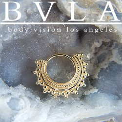 "BVLA 14kt Gold ""Afghan"" Septum Daith Seam Ring 18 Gauge 18g Body Vision Los Angeles"